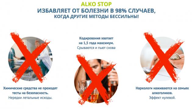 Побочные эффекты Алкостоп