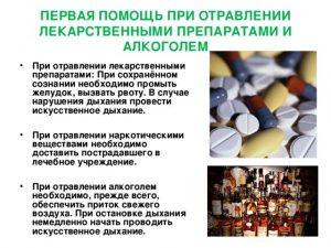 Помощь при отравлении препаратами