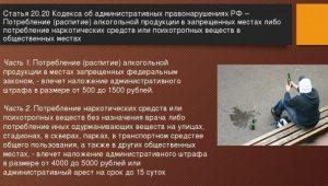 Статья 20.20 КоАП РФ
