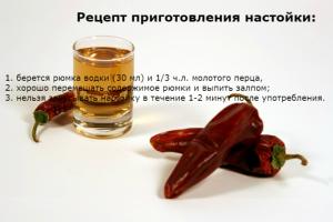 Водка с перцем - рецепт