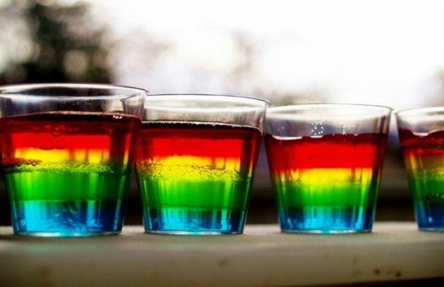 Добавление в алкоголь красителей