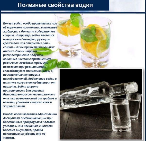 Наружное применение водки