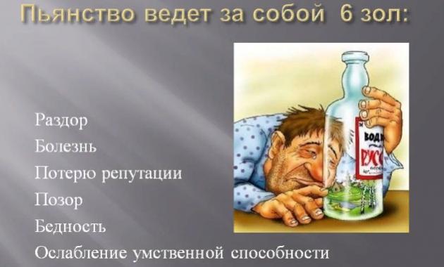 Последствия пьянства