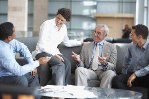 Рабочие разговоры с коллегами
