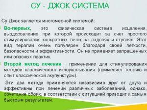 СУ - ДЖОК СИСТЕМА