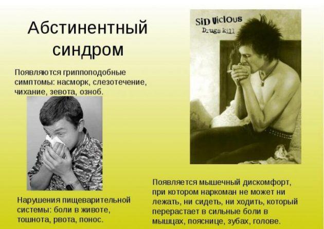 Симптомы наркотической абстиненции