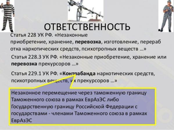 Статья 228 УК РФ и 229.1 УК РФ