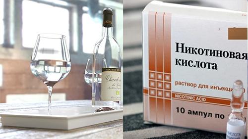 Взаимодействие никотиновой кислоты и алкоголя